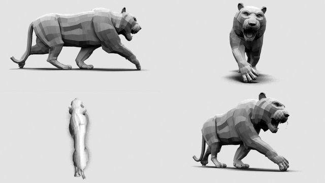Exercice Quadrupède 3D