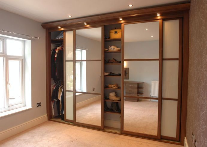 Elegant Mesmerizing Closets Storages Bedroom Interior Asian Style Wood Closet With  Mirrored Sliding Door For Modern Home Interior Ideas Space Up Your Bedroom  With ...