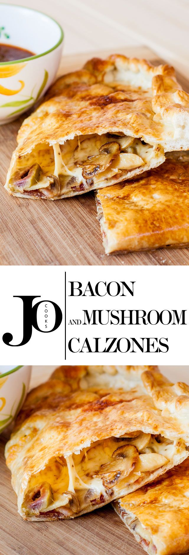 Bacon and Mushroom Calzones come packed with cheese, mushrooms, bacon and a secret ingredient that make these calzones phenomenal.