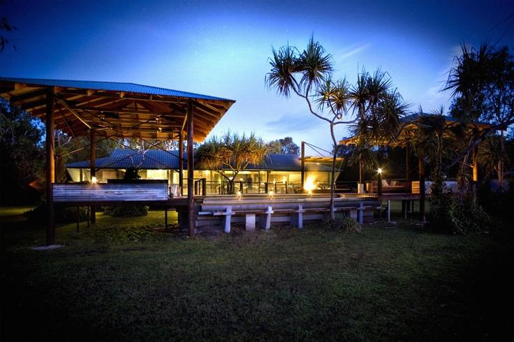 Bamurru Plains, Top End - Lodge deck and pool