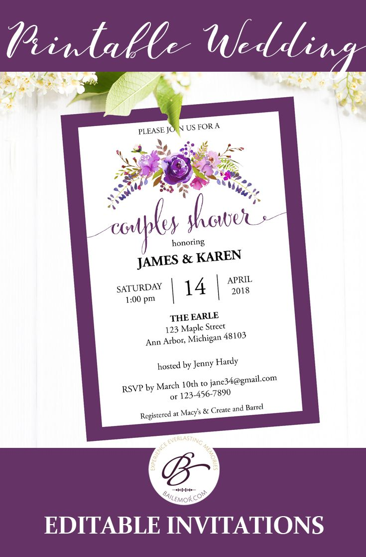 48 best Wedding Invitation Templates images on Pinterest | Wedding ...