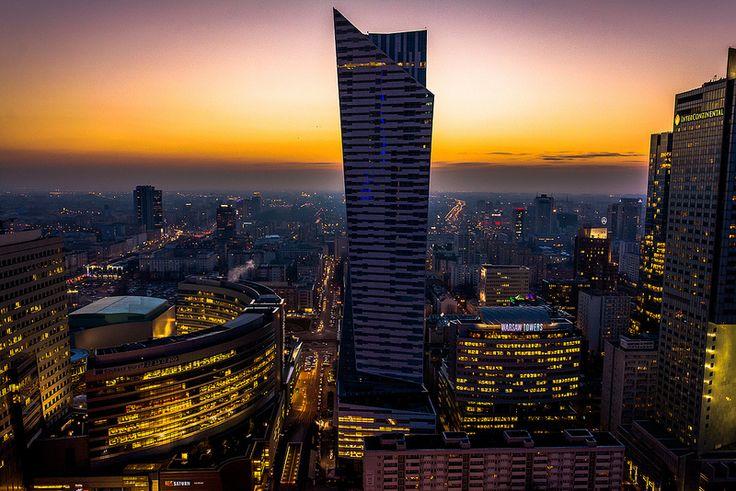 Warsaw sunset