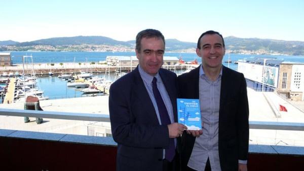 Con @carlosgconde desde el Hotel Bahia de Vigo el 21/5/13 con motivo de mi presentación en aquella ciudad