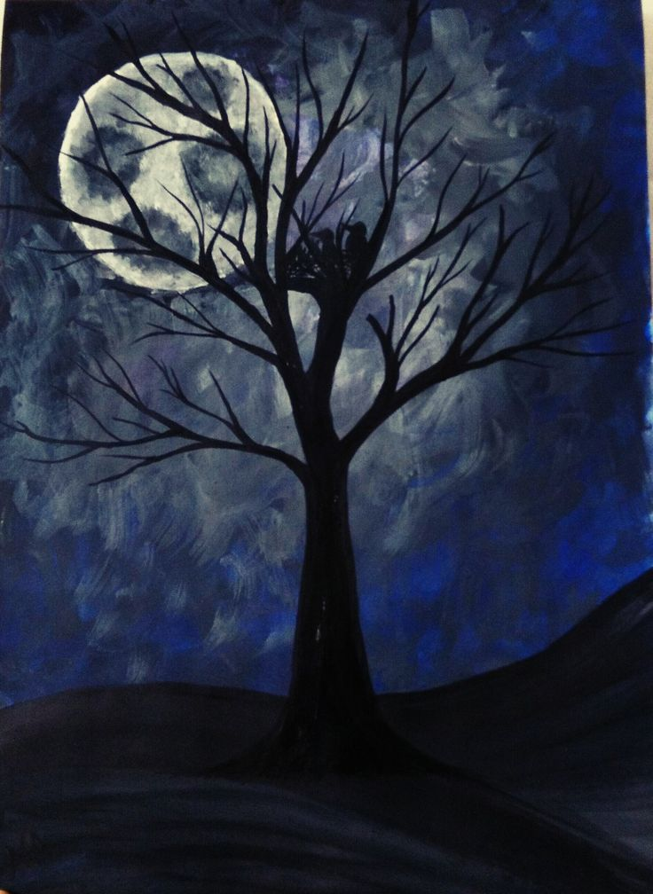 """Birds in mystical moonlight"" 50$ for Sale"