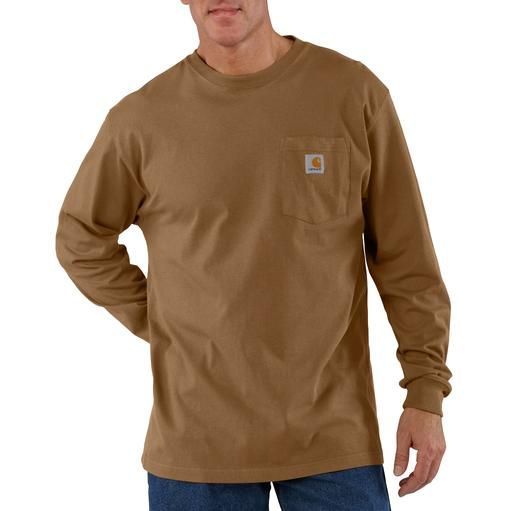Carhartt Men 39 S Long Sleeve Workwear Pocket T Shirt K126 By