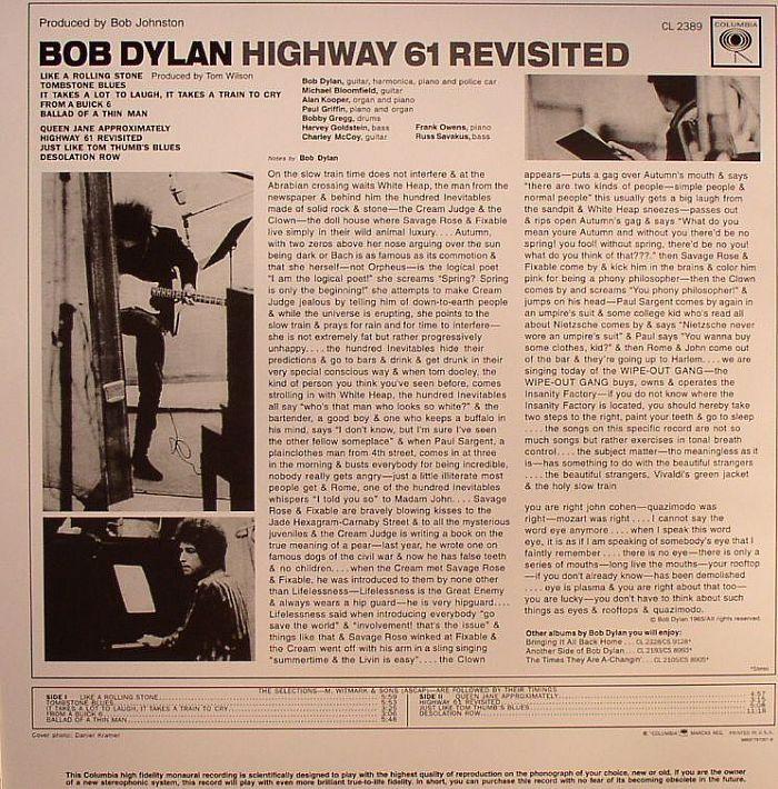 bob dylan highway 61 album