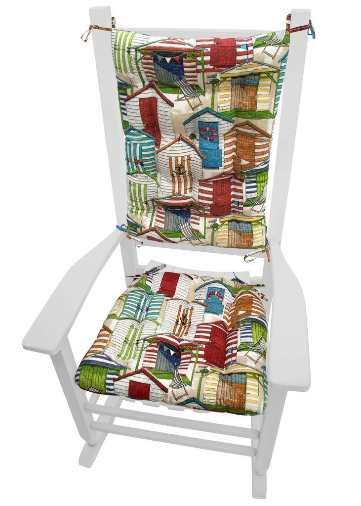 BEACH HUTS MULTI PORCH ROCKER CUSHIONS - MILDEW RESISTANT FADE RESISTANT - REVERSIBLE #LaborDay #Sale #Beach