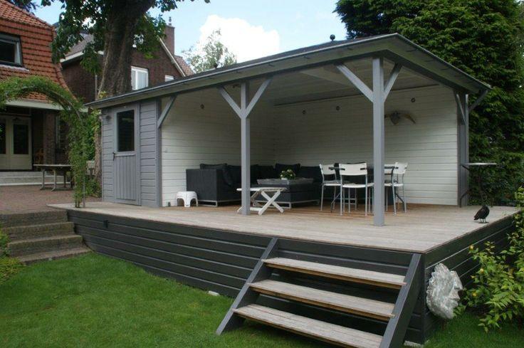 Tuinhuis mississippi op verhoging het echte veranda gevoel tuinhuizen met veranda pinterest - Deco tuinhuis ...