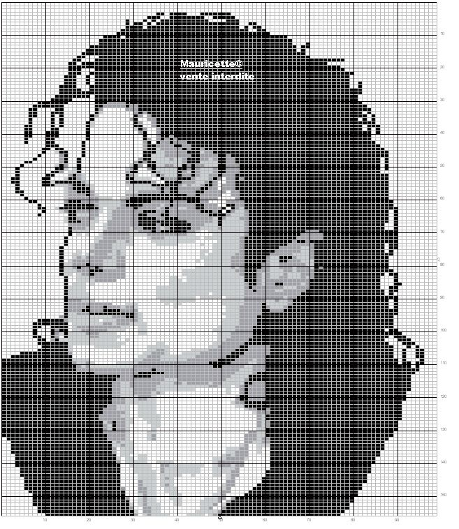Free Cross Stitch Pattern - Michael Jackson Chart