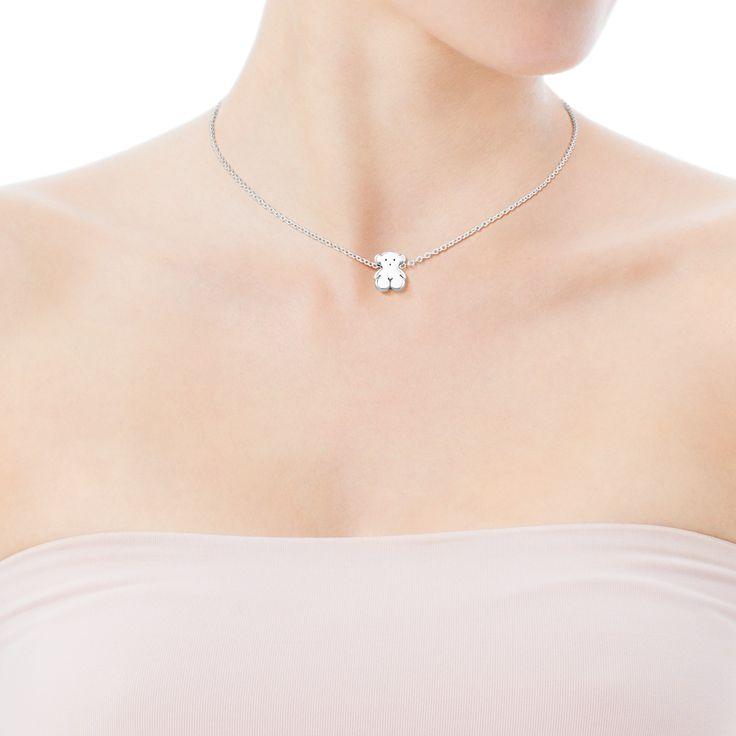 Silver TOUS Bear Necklace - Tous