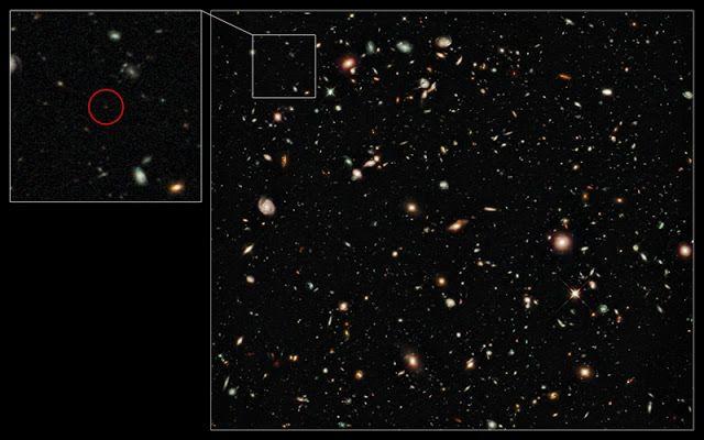 Galaksi terjauh di alam semesta saat ini, UDFy-38135539. Kredit: NASA/ESA/G. Illingworth   SpaceNesia - Tahukah Anda galaksi tertua di ...