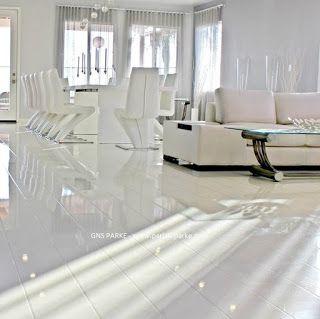 Elesgo (Elesgo Parlak Laminat Parke): Beyaz Parlak Parke Elesgo