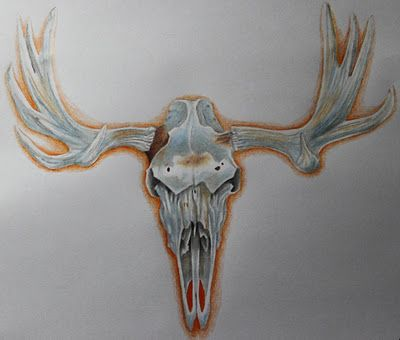moose skull tattoo neato tattoos pinterest skulls skull tattoos and moose. Black Bedroom Furniture Sets. Home Design Ideas
