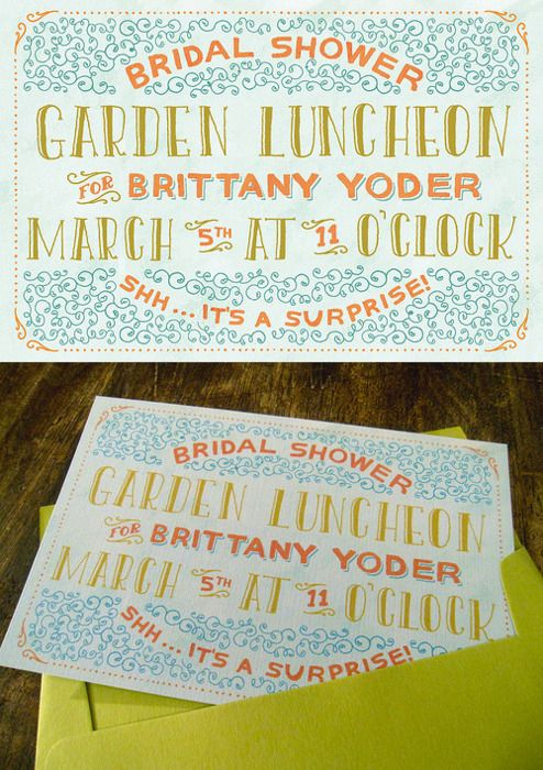 Hand lettering work for an invite