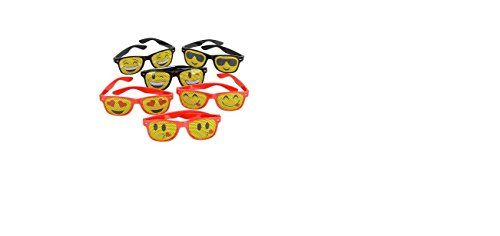 12 Assorted Emoji Mesh Sunglasses One Dozen Assorted Emoji Mesh Sunglasses Assorted fun shades in different emoticon expresssions ~ This collection of novelty sunglasses features a variety of emoticon prints Great for decorating cards of all themes Awesome Birthday Party Favor ~ Giveaway ~ Fair Prize ~ Teacher Gifts ~ BFF Sleepovers Kids Love Them! …