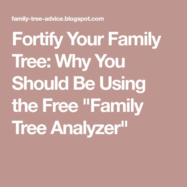 """Fortify Your Family Tree: Why You Should Be Using the Free """"Family Tree Analyzer"""""""