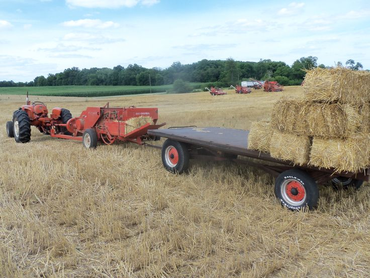 Allis Chalmers D15,303 hay baler,hay wagon. | Allis ...