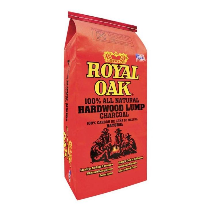 Royal Oak 15.44 lb. 100% All Natural Hardwood Lump Charcoal-198228021 - The Home Depot