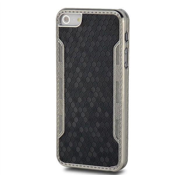 Cells Back Cover für Apple iPhone 5 & 5S Schwarz
