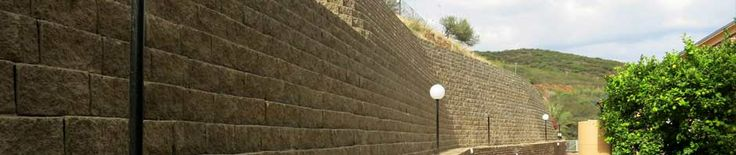 Terraforce: interlocking concrete retaining wall blocks