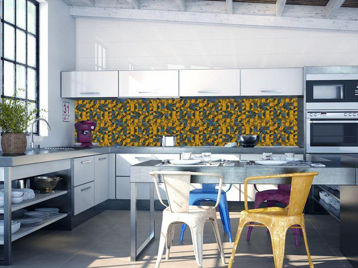 Mosaico resina | backsplash kitchen