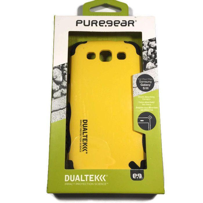 4 PureGear DualTek Samsung Galaxy S3 Impact Case - Yellow 60644PG NEW! #PureGear