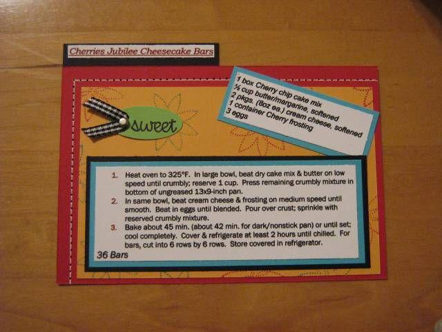 Recipe Card: Cards Recipes 6X6, Desserts Recipes, Ideas Recipes Cards, Decorated Recipes, Design Ideas Recipes, Designwith Recipe Cards, Pages Recipes Books, Photo, Decor Recipes