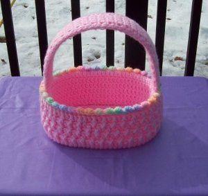 knit pattern for easter baskets | easter basket pdf crochet pattern crochet easter basket free pattern ...