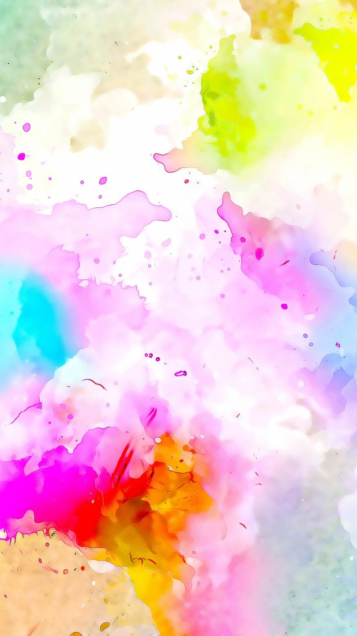 720x1280 Watercolor Colorful Canvas Artwork Wallpaper