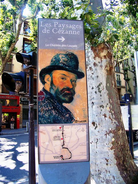 A marker in Aix en Provence for the Cezanne tour. He was born here and a museum has been established in his home.(photoartbygretchen, via Flickr)