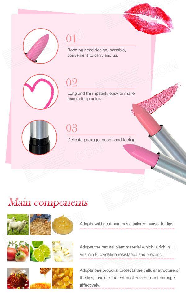 Hengfang H113 12-in-1 Moisturising Lipsticks Set - Multicolored (12 PCS) - Free…