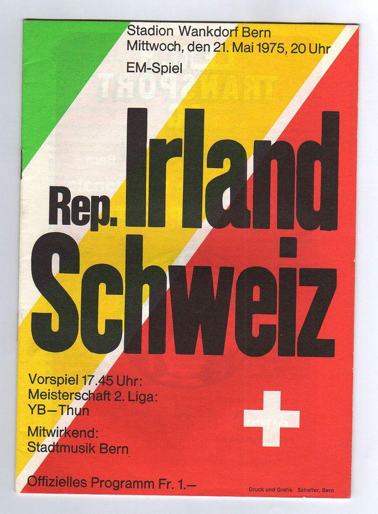 1975 Switzerland v Ireland