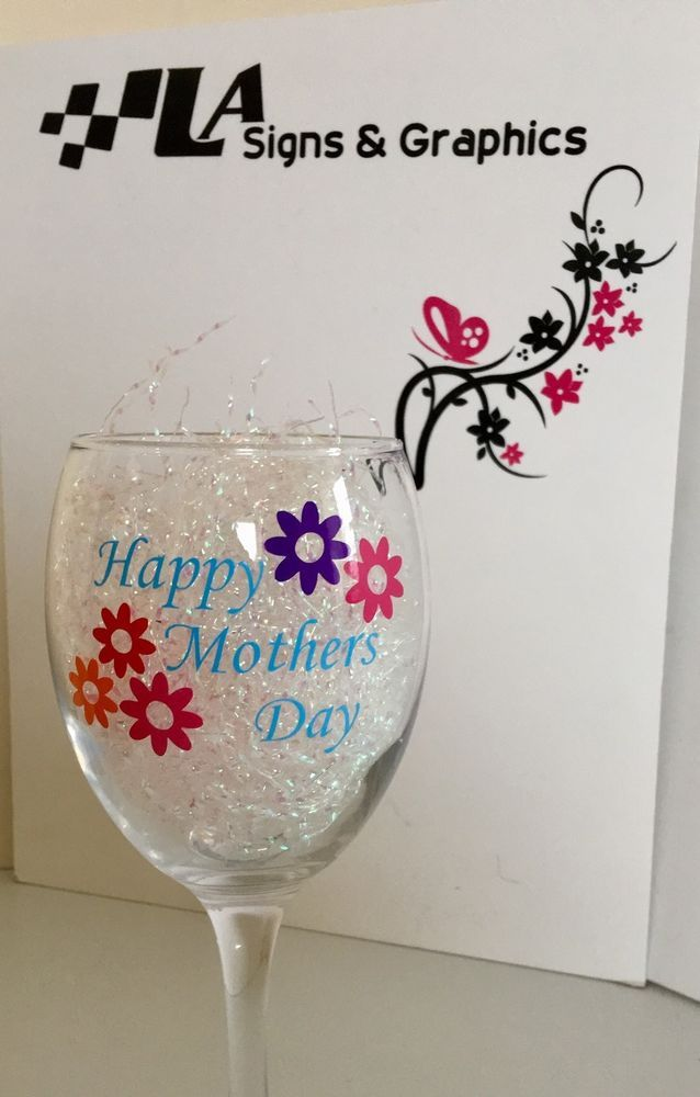 Best Mothers Day Images On Pinterest Mother Day Gifts Bottle - Wine glass custom vinyl stickers