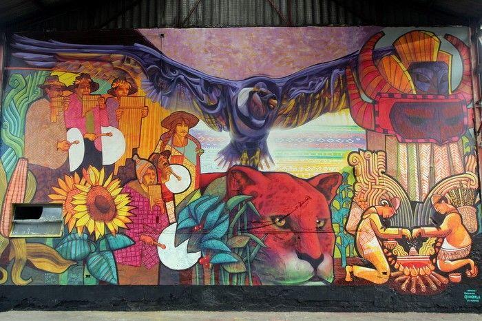Dan Silva, Marcelo Carpita y Matías Muxi - murales de Buenos Aires. Barrio de Floresta