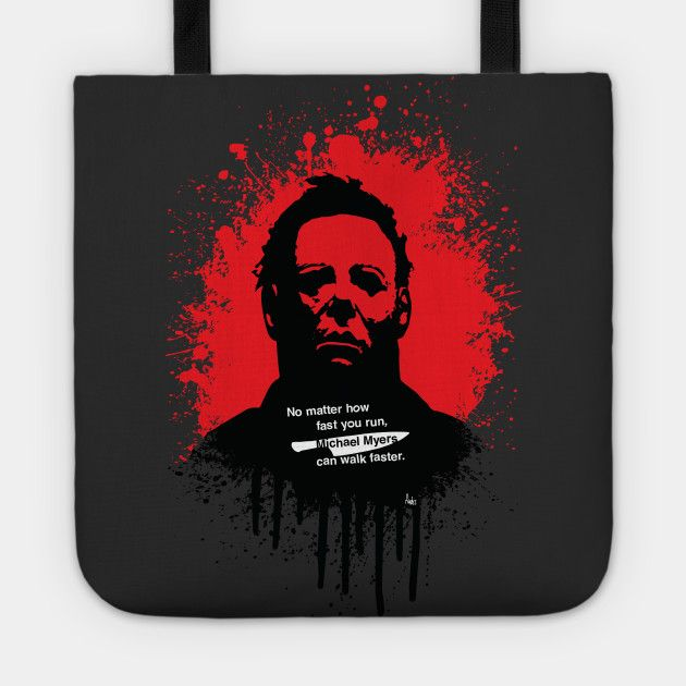 Halloween tote bag by Fimbis     Michael Myers, horror, art, scary movies, illustration, blood, goth, movie poster, dark, bags, shopping, school,