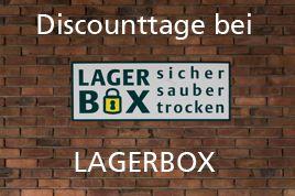 Nur jetzt - Discounttage bei LAGERBOX in Frankfurt - Selfstorage Lagerraum mieten so günstig wie nie zuvor - Möbel einlagern, Aktenlager mieten, Handelswaren fachgerecht und sicher einlagern!!