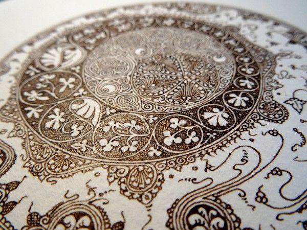 Anachropsy - Calligraphie latine par Benoit Furet - Filigranes