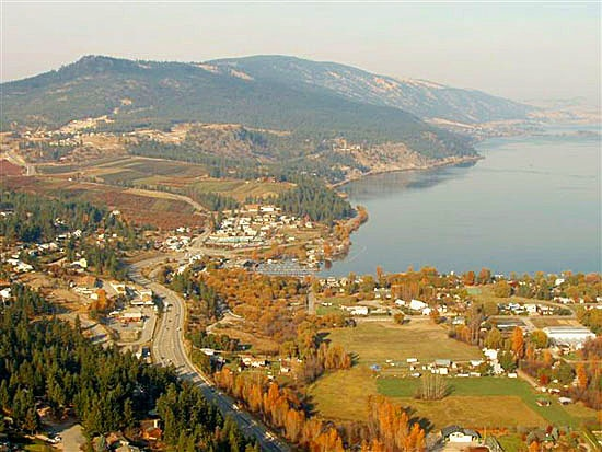 Aerial View of Winfield-Oyama - District Of Lake Country, B.C.