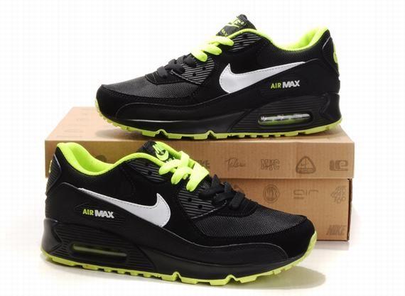 Nike Air Max 90 hommes chaussures de mode Noir GreenYellow