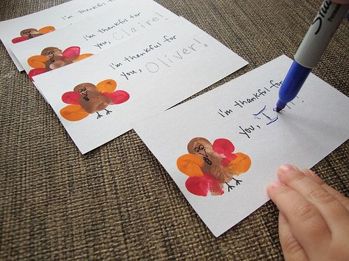 Thumbprint Turkey [Thanksgiving Crafts for Kids]