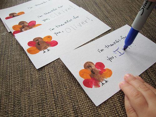 Thumbprint Turkey - Thanksgiving Crafts for Kids