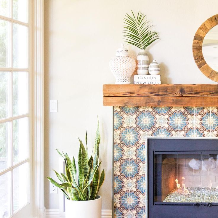 LOVE This Tile Fireplace. And The Chunky Wood On Top Of Mantle. Letu0027s Pair  Fireplace, Kitchen Backsplash, And Laundry Room Floor Tile.