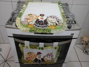 Pintado com patch aplique feito a máquina , faço com outras estampas.POR FAVOR INFORME PARA FOGÃO DE QUANTAS BOCAS 4,5 OU 6 BOCAS.