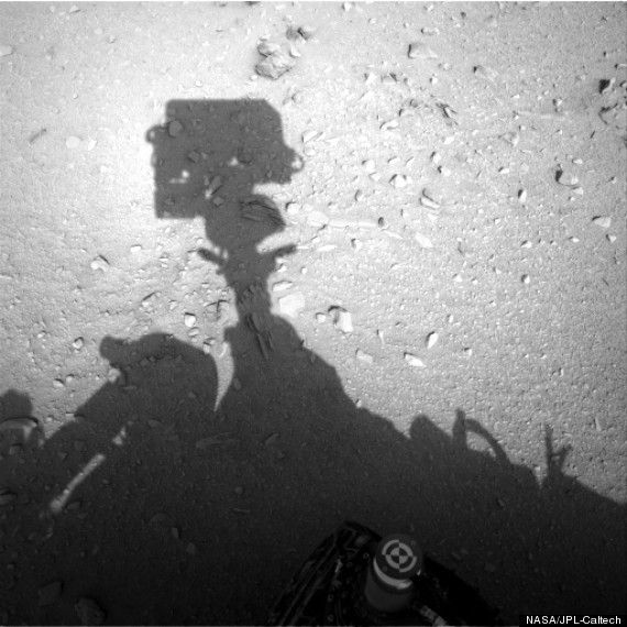 Mars Rover Photo Shows Human Shadow, Or Maybe It Doesnt