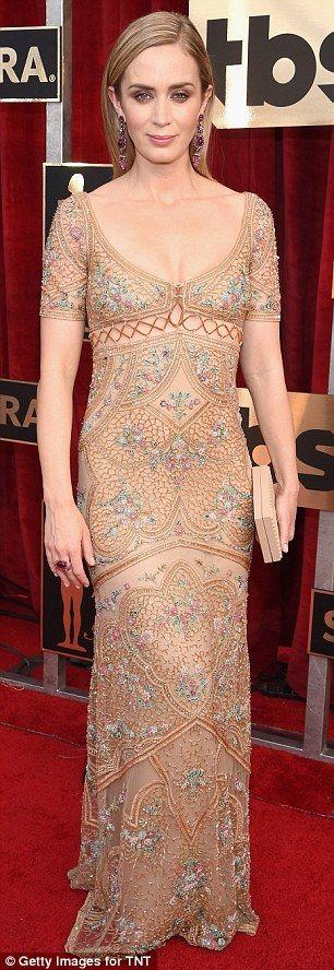 John Krasinski escorts nominee wife Emily Blunt to SAG Awards