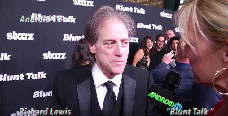 American comedian and actor Richard Lewis plays as Dr. Weiss in the upcoming American sitcom Blunt Talk, is created by Jonathan Ames and produced by Seth MacFarlane for the Starz network. It casts Patrick Stewart, Jacki Weaver, Adrian Scarborough, Dolly Wells and the series will premiere on August 22, 2015.