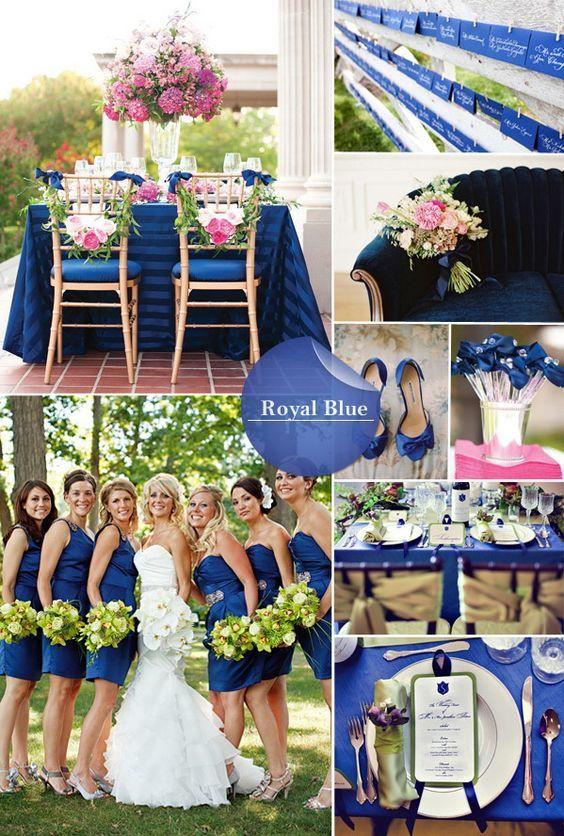Pantone's beautiful royal blue fall wedding color 2014