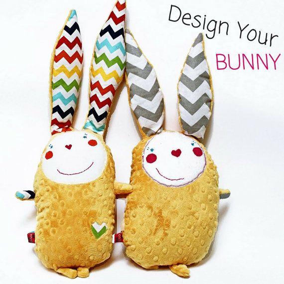 custom stuffed bunny, easter bunny rabbit, custom plushie, minky stuffed animal, custom baby toy, cute girlfriend gift crazy bunny kids gift