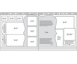 Scrapbook Page Sketch 215