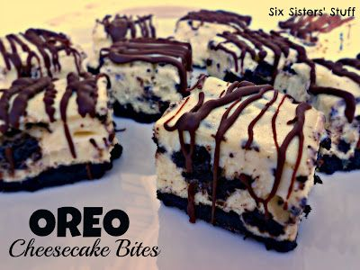 Oreo Cheesecake Bites-maybe for Ez 's birthdayHealth Desserts, Tasty Recipe, Six Sisters, Food Dinner, Cream Cheese, Oreo Cheesecake Bites, Yummy, Savory Recipe, Bites Recipe